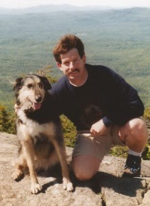 Shelby and my husband on Mt. Cardigan in 1999....in the middle of her cancer treatment.