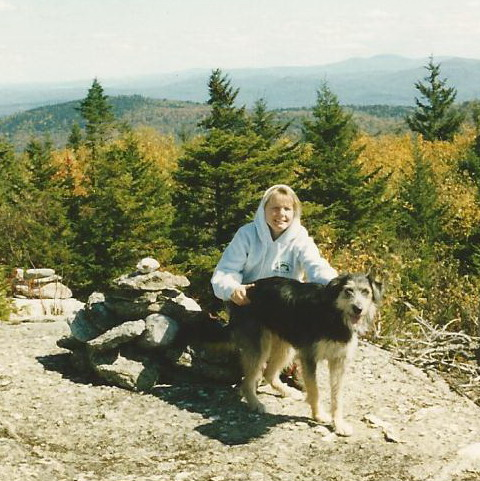 Shelby and I on Mt. Cardigan in 1997.