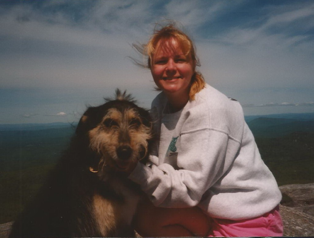 Shelby and I on her last hike in May of 1999.