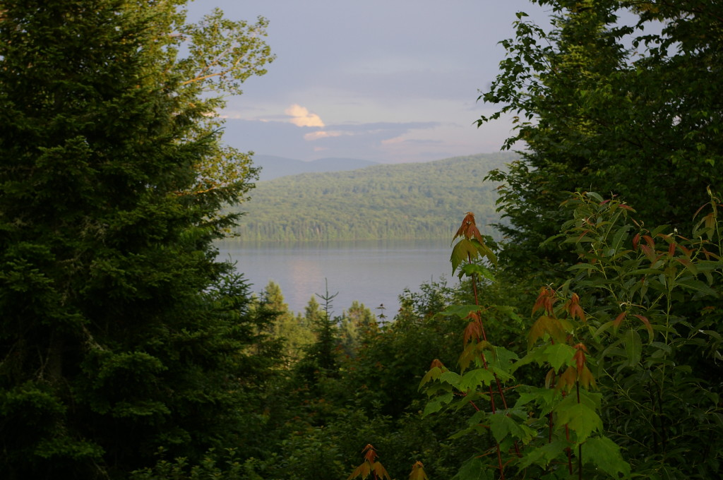 The view from our cabin of 1st Connecticut Lake.