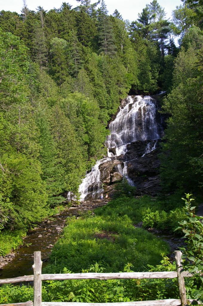 Beaver Brook Falls in Colebrook, NH.