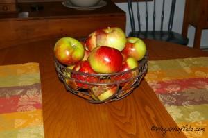 Fresh apples make a beautiful fall centerpiece!