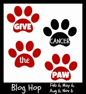 give cancer the paw button