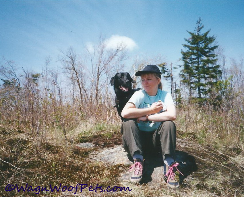 Maggie and me on a hike many summers ago.