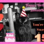 Samantha Turns 15 Today!