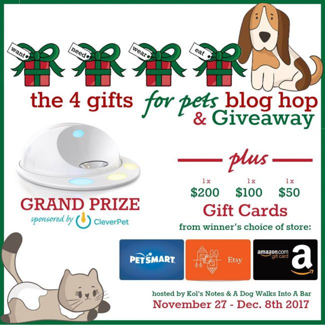 4 Gifts for Pets - Giveaway