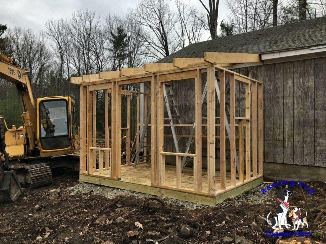 Chicken Coop Under Construction