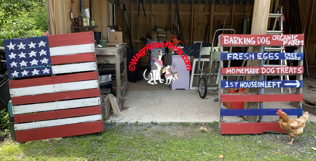 Handpainted Flags and Signs