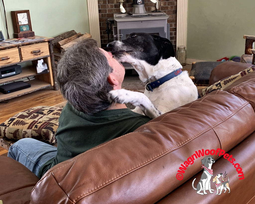 Dog and Dad Smooches