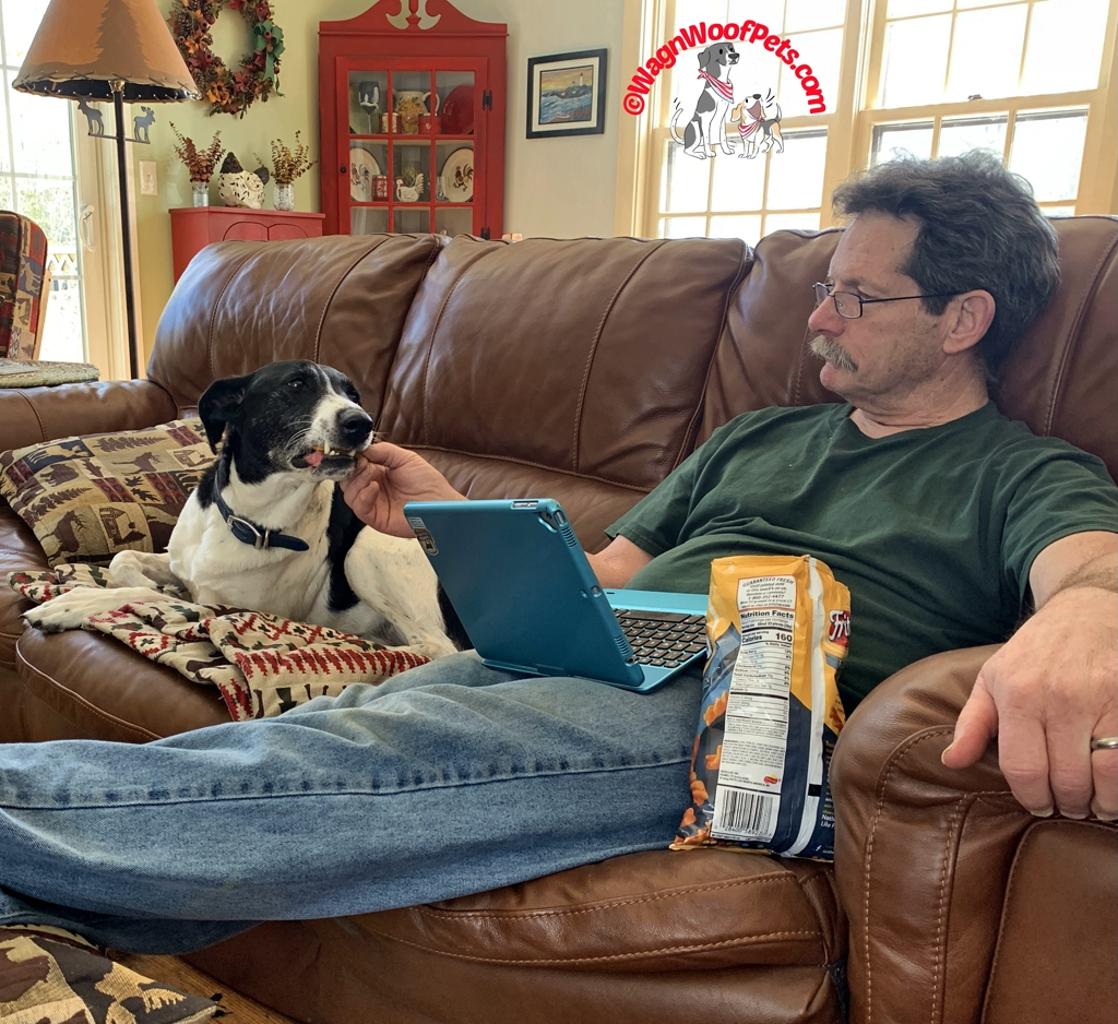 A Dog & His Dad Share Snacks