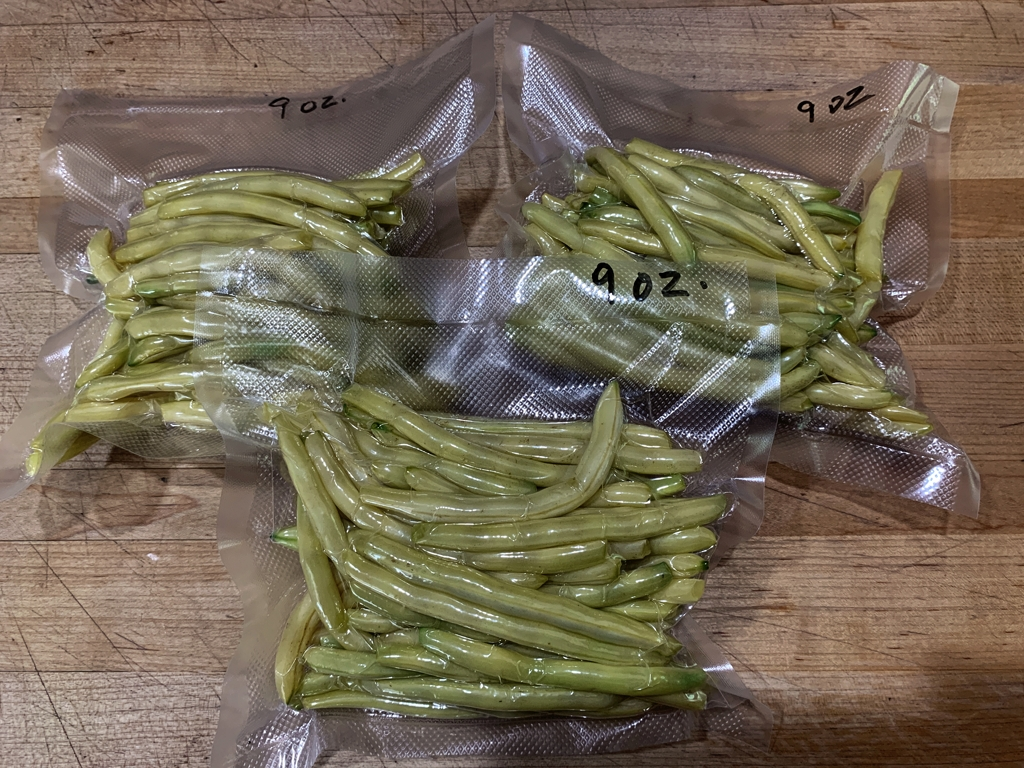 Freezing Yellow Beans
